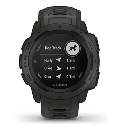 Instinct con la pantalla de vinculación con dispositivos de rastreo para perros