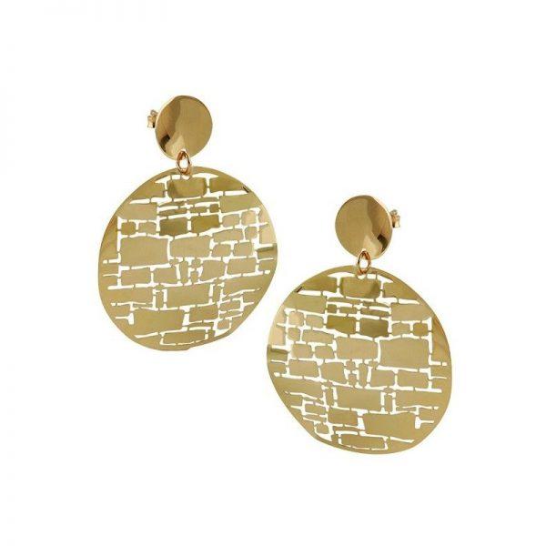 Pendientes Oro Amarillo Laberinto