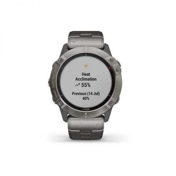 Reloj Garmin Fenix 6X Pro Solar Titanio