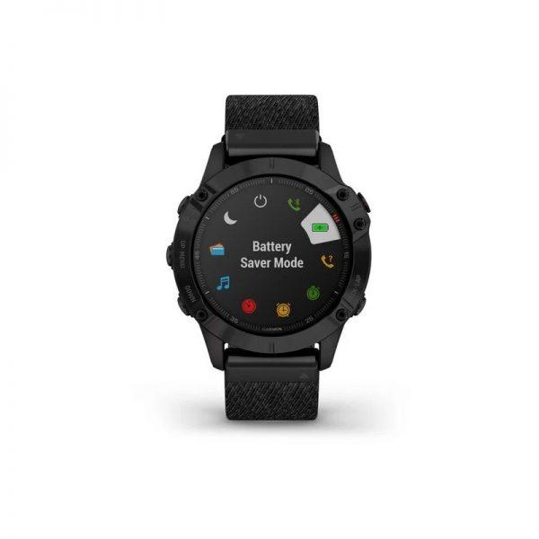 Reloj Garmin Fénix 6 Zafiro DCL negro nylon