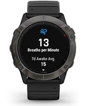 fēnix 6X Pro Solar con la pantalla de seguimiento de la respiración